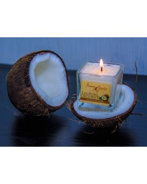Scented Soy Wax Candle Calming Coconut