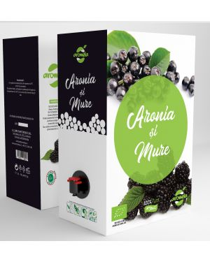 Organic blackberry and aronia juice, Aromela brand