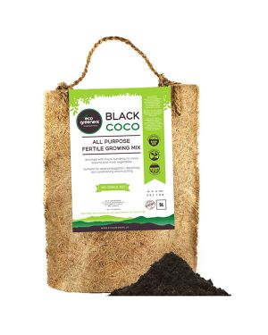 Black Coco All Purpose Fertile Growing Mix 5l – Gift Pack In A Coir Bag