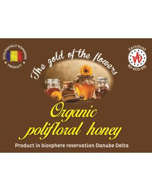 Organic polifloral honey